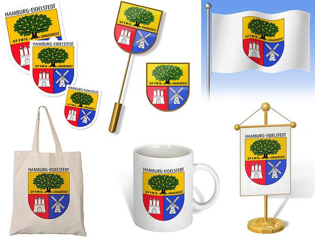 Wappen für Eidelstedt - Vorschläge für Paraphernalia, Fan-Artikel, Merchandizing